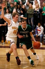 Fisher Catholic's Bryson Vogel is one of several key players for the Irish, who have a 15-6 record and is the No. 1 seed in the upcoming Central District Division IV tournament.