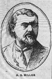 This sketch of A. G. Miller was published with his obituary in the Gazette on Dec. 14, 1908. The caption with the photo stated he had installed Lancaster's Water Works system 31 years earlier.