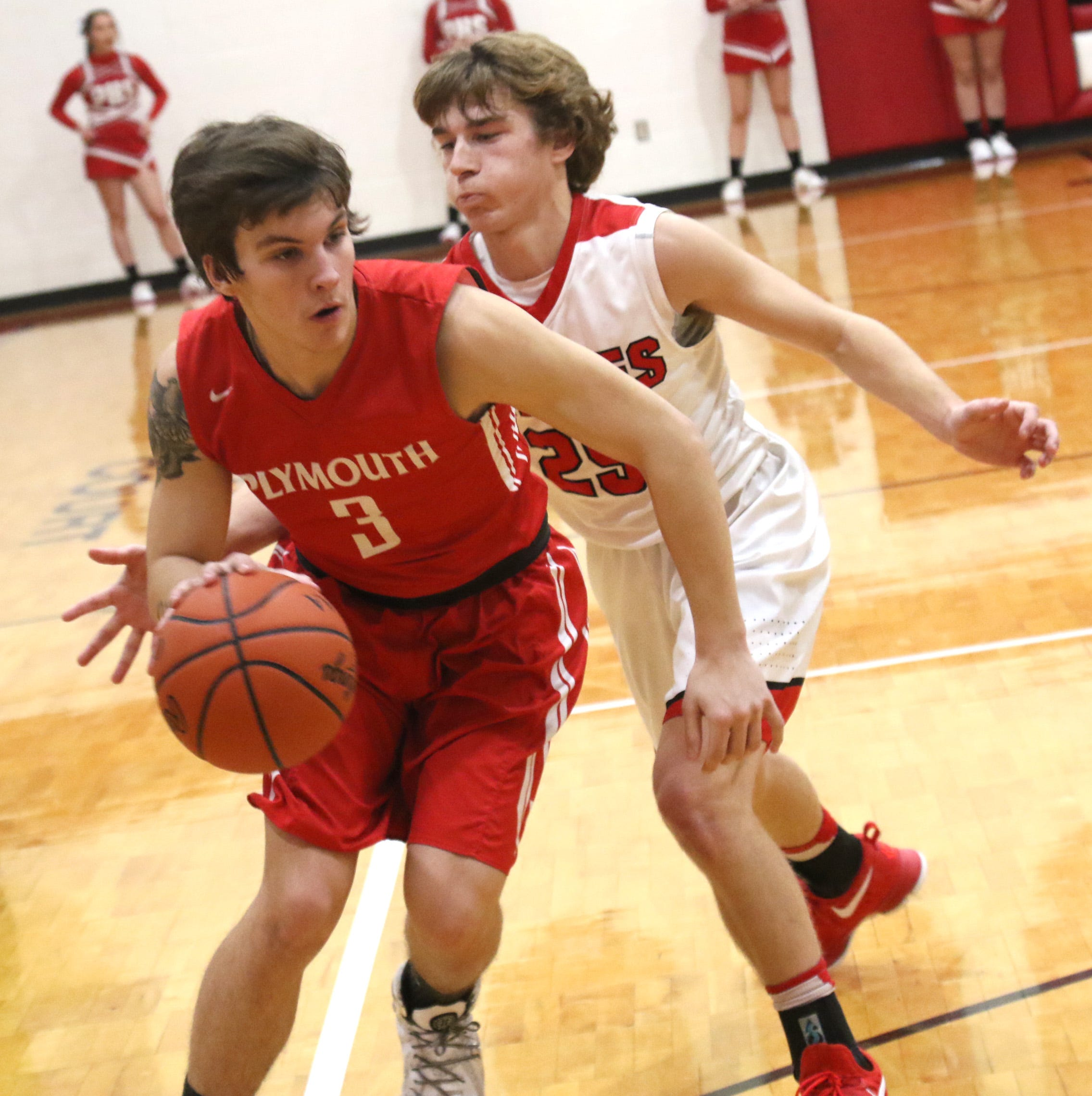 Gibson's career night powers Plymouth Big Red to victory over Mansfield Christian
