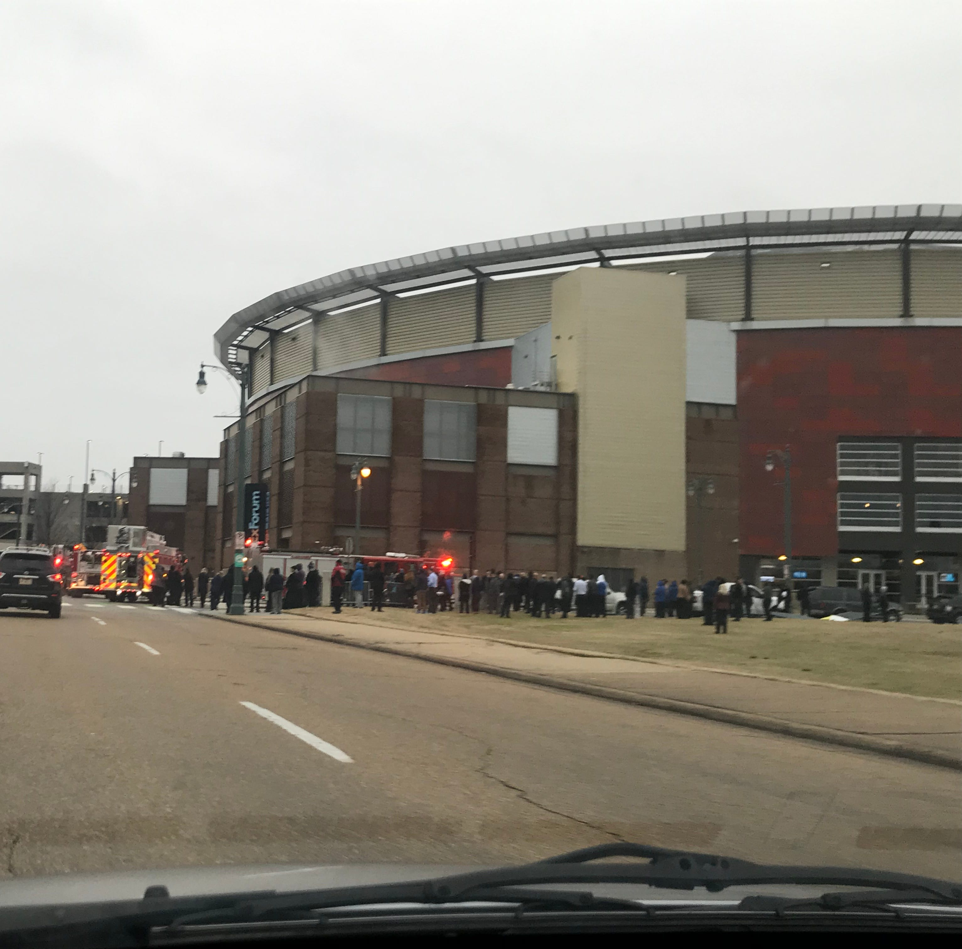 FedExForum evacuated as Memphis Fire Department swarms building