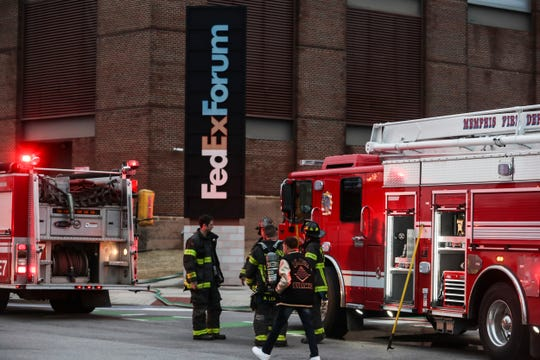January 23 2019 - Nearly a dozen trucks from the Memphis Fire Department responded to FedexForum on Wednesday night in response to a sauna fire near the locker room. The building was evacuated by 4 p.m., just three hours before the scheduled tip-off of a game between the Grizzlies and Charlotte Hornets.