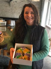 Stefanie Watkins makes a large assortment of baked goods, including King Cakes, each Saturday at the Tsunami Restaurant Chefs Market.