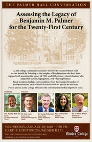 Several community leaders will discuss the legacy of Benjamin Palmer in a forum at 6 p.m. Jan. 30 at Rhodes College.