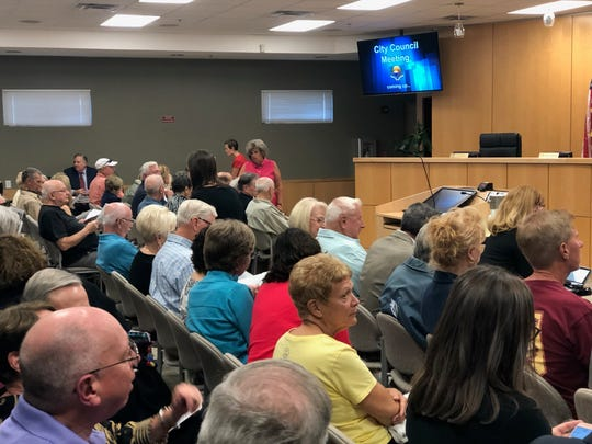 Marco Island residents packed City Hall Tuesday night to voice support and concerns about an assisted living facility project.