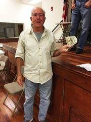 Knights of Columbus' big jackpot winner, Joe Cucinella of Naples.