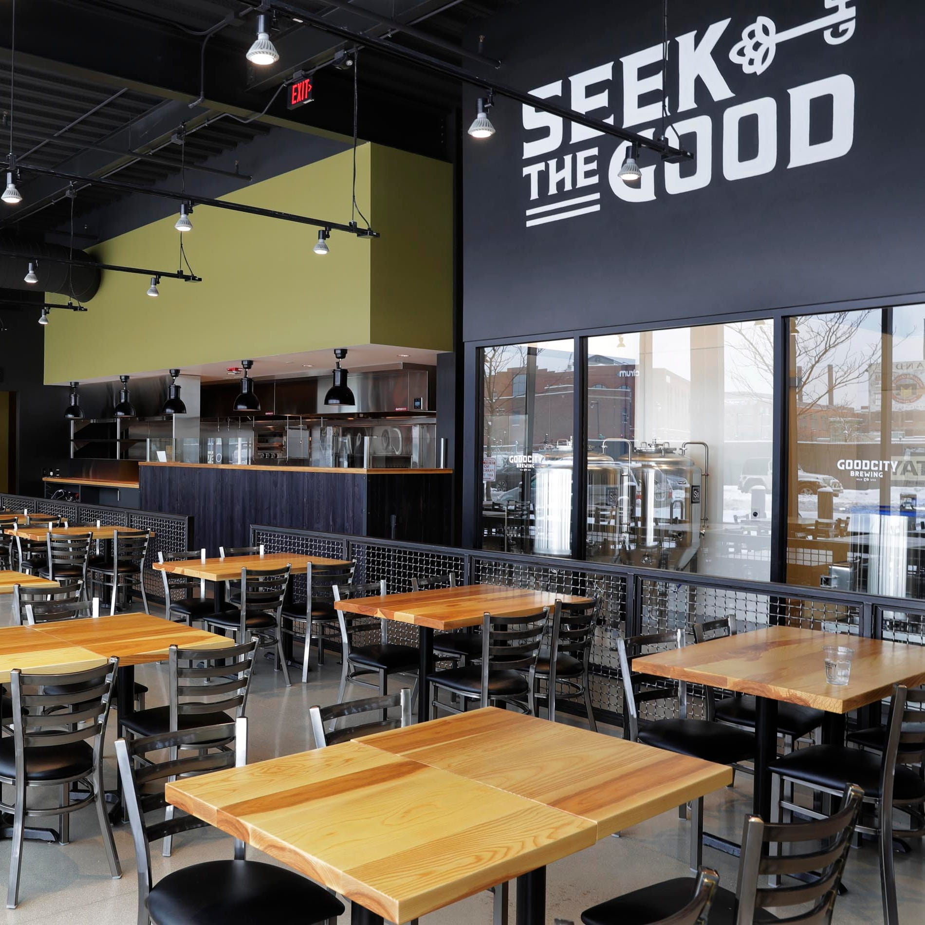 The Good City taproom across from Fiserv Forum is open, but just for beer right now