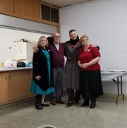 Cudahy United Methodist Church is now offering a safe space for south shore teens called Safe Haven. On the inaugural night in December 2018, (from left) Pastor Lynne Hines-Levy, Gary Levy, Jeff Tragnitz, and organizer Nan Owen Hoekman were there.