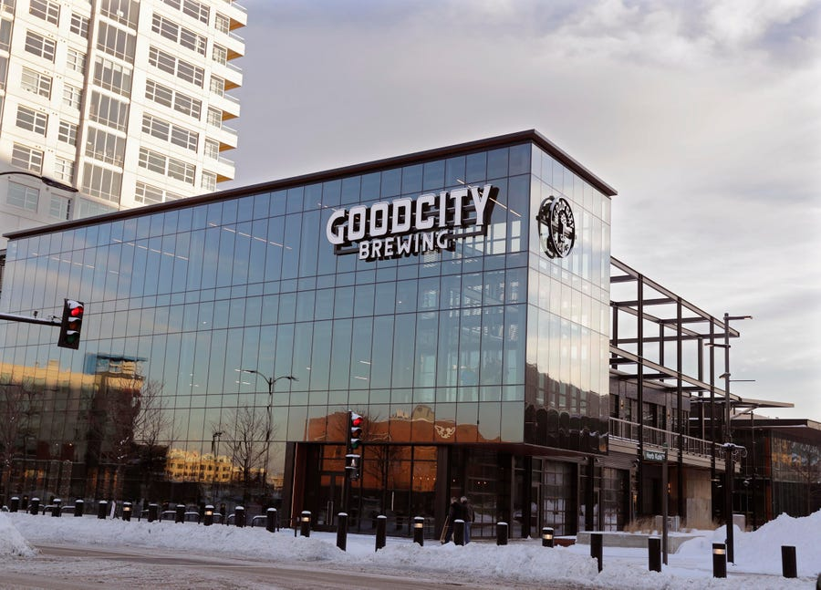 Good City Brewing offers a sneak peek of its taproom at FiServ Forum in advance of its soft open on Jan. 25. Its the first tenant in the Entertainment Block.