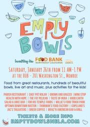 Empty Bowls is Saturday.