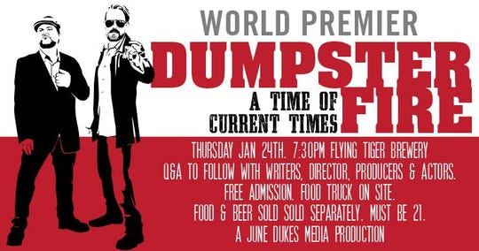 Dumpster Fire is playing Thursday at Flying Tiger Brewery.