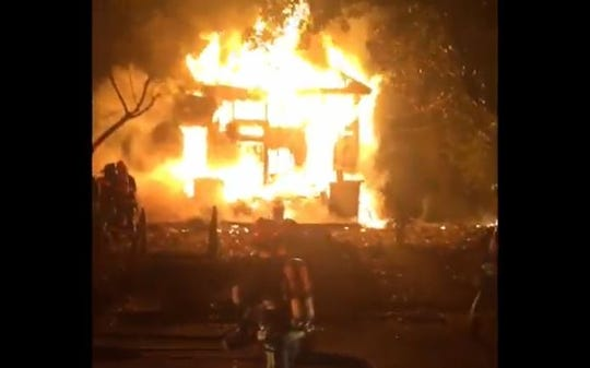 Firefighters knocked back an inferno at a home on Buford Street