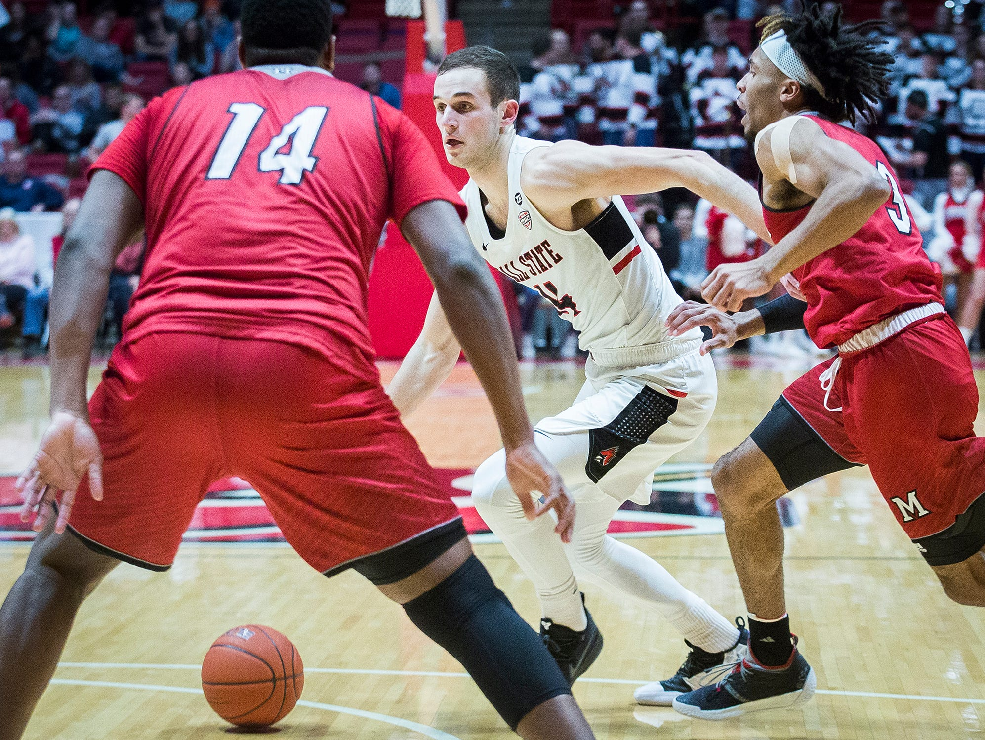 Ball State faces off against Miami during their game at Worthen Arena Tuesday, Jan. 22, 2018.