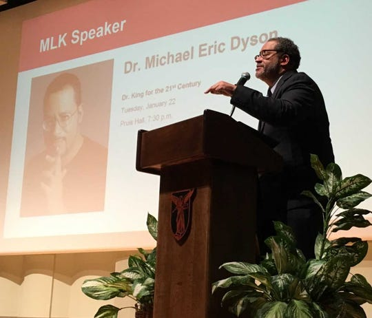 Michael Eric Dyson speaks at Pruis Hall on the Ball State University campus on Jan. 22.