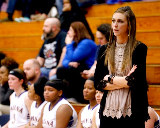 Jordyn Hartsfield has stepped down after one year as girls basketball coach at Smyrna to become an assistant at Blackman.