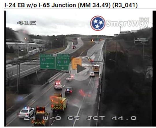 I-24 eastbound crash