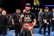 Caleb Plant won the IBF super middleweight boxing championship on Jan. 13 in Los Angeles with a unanimous decision over Jose Uzcategui.