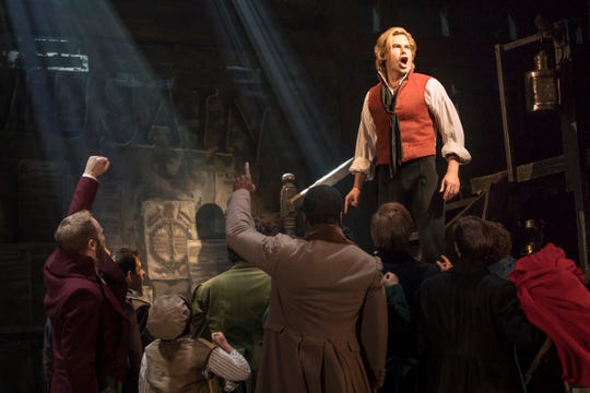 "Matt Shingledecker as 'Enjolras' in the new national tour of ""Les Misérables."""