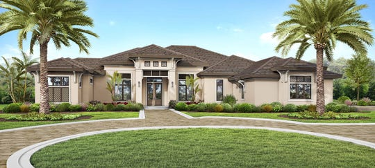The Barrymore model, being built by McGarvey Custom Homes, is located in Quail West.
