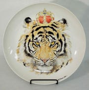 "Michelle Wilk's ""Tiger Prince"" plate for Empty Bowls Naples"
