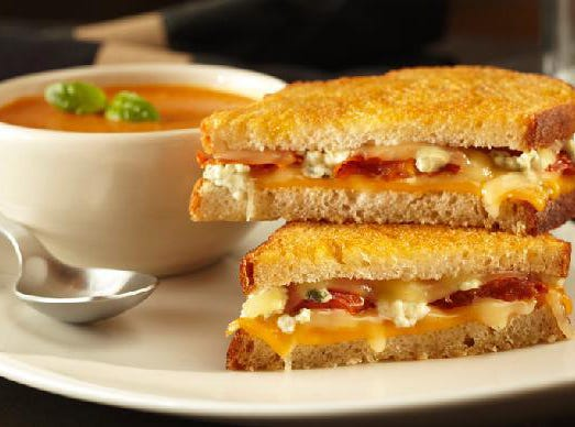 Grilled Cheese & Tomato Bisque at Yard House.