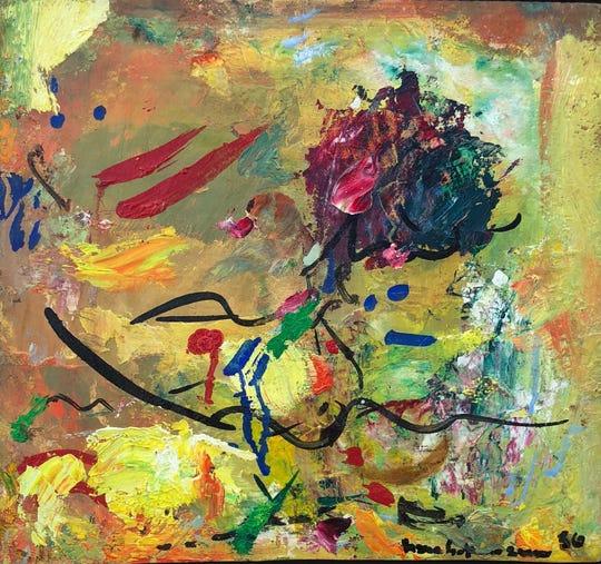 """Untitled"" Hans Hofmann, 1956"
