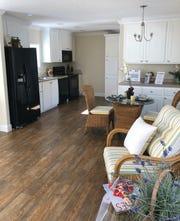 Sandpiper is 830 sq. ft., two-bedroom, two-bath single-wide split bedroom home.