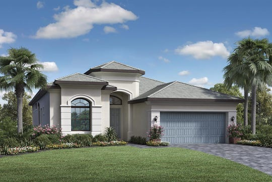 The El Paso home design is offered at Palazzo at Naples.