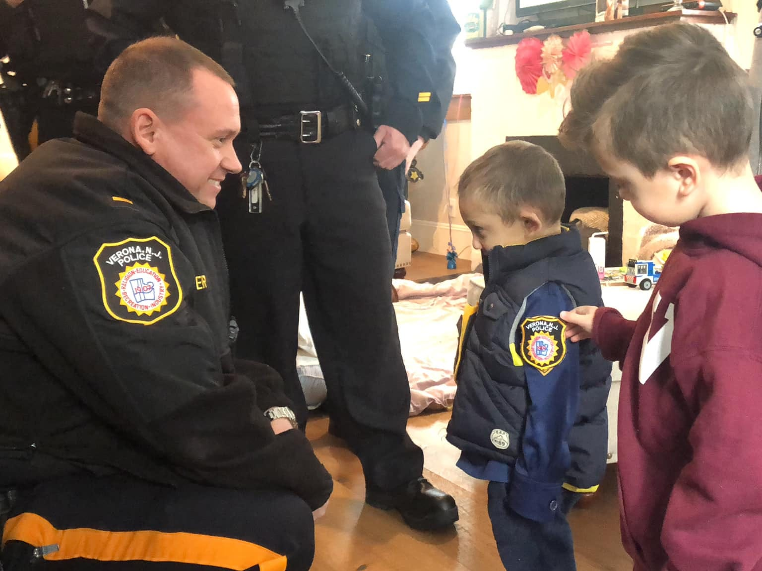 Verona police bring Micco LaRosa and his family to the department Jan. 20, 2019.