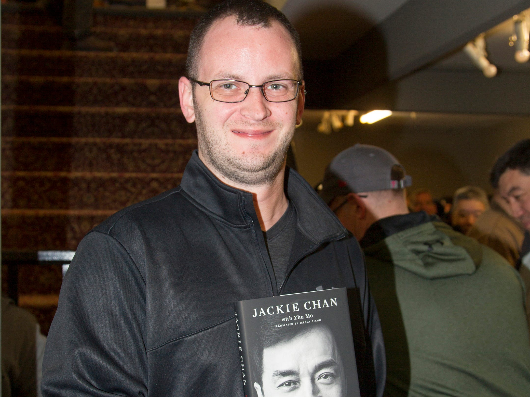 """John. Jackie Chan greets fans at Bookends in Ridgewood while signing his new book, """"Never Grow Up."""" 01/21/2019"""