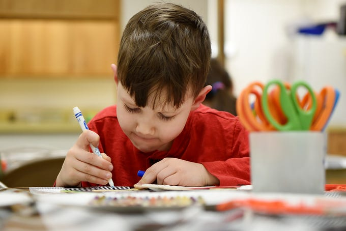Crafting Kids At Carlstadt Library