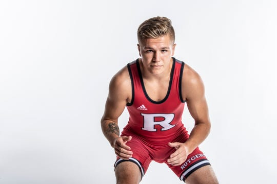 Nick DeNora made his Rutgers debut by wrestling Spencer Lee of Iowa.