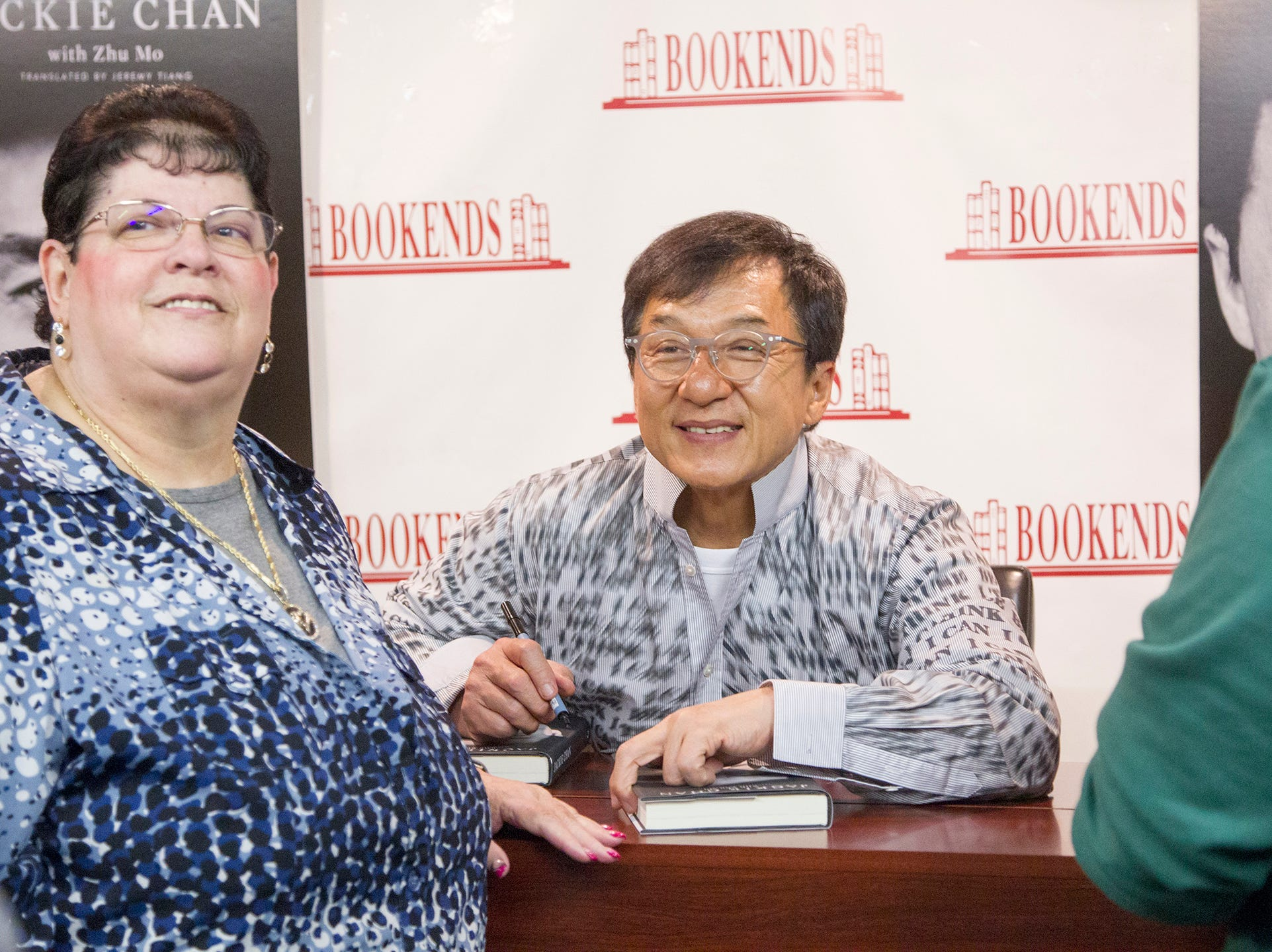 """Jackie Chan greets fans at Bookends in Ridgewood while signing his new book, """"Never Grow Up."""" 01/21/2019"""