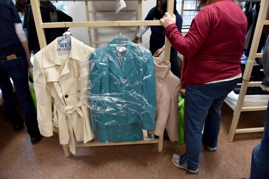 Free clothes were available to the homeless at the Bergen County Human Services Center in Hackensack, on Wednesday January 23, 2019.