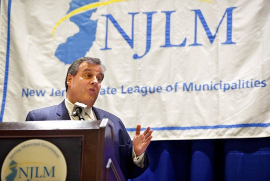 Gov. Chris Christie delivers remarks during the New Jersey League of Municipalities 101st Annual Conference Luncheon at the Sheraton Atlantic City Convention Center Hotel Thursday, Nov. 17, 2016.