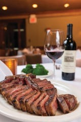 Steak is front and center on the menu at  The River Palm Terrace in Edgewater