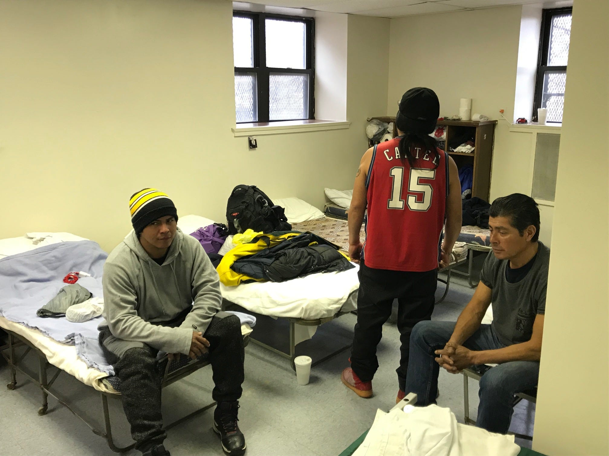 For some homelessness is a seasonal problem. In summer these men say there's ample work and they can afford to rent a room and get off the street. Time's are leaner in the winter.  Depending on weather and their networks, they may live underneath the Route 21 overpass, or a firend's couch or when weather turns frightful like it did on Sunday and Monday, they may check into the City of Passaic's shelter on Aspen Place.