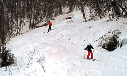 A challenging trail at the Magic Mountain Ski Area in Londonderry, Vermont on January 10, 2019. Photo by Martin Griff