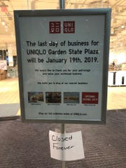 Uniqlo has closed its Garden State Plaza location. A smaller store is expected to open at Paramus Park in the coming months.