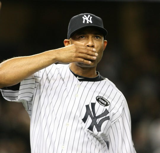 Mariano Rivera at the end of Game 3 of the American League Division Series, Minnesota Twins vs New York Yankees in the Bronx, New York on October  9 , 2010.