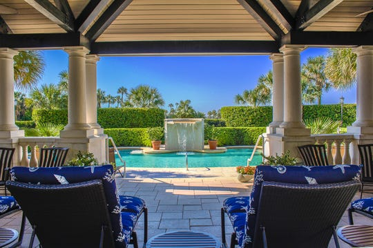The pool at The Spa at Ponte Vedra Inn & Club in Ponte Vedra Beach, Florida.
