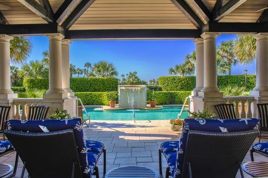 The pool at The Spa at Ponte Vedra Inn & Club in Ponte Vedra Beach, Florida.