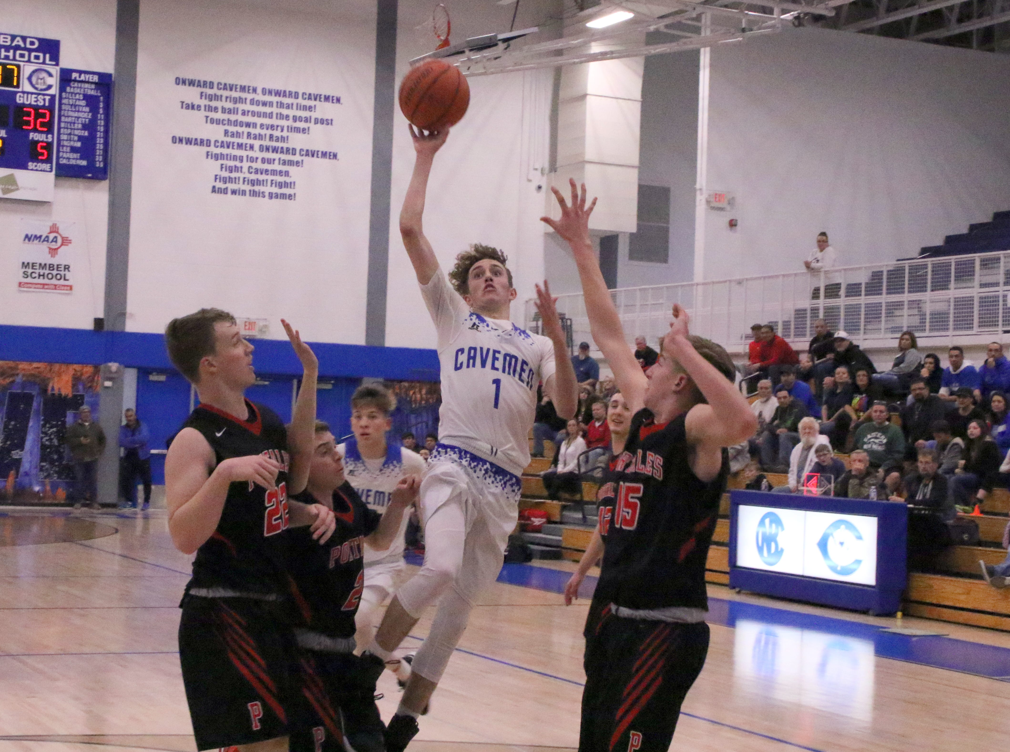 Photo highlights from the Carlsbad/Portales game on Jan. 22, 2019. Portales won, 50-48.