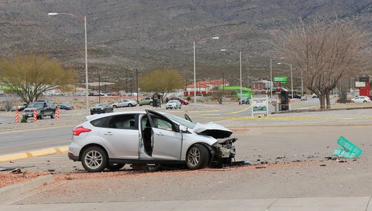 A two-vehicle collision at Indian Wells Road and Arizona Avenue caused the roadway to be temporarily closed due to the accident around noon Tuesday. The driver of the pickup truck was pronounced deceased at the scene, Alamogordo Police Lt. David Kunihiro said.