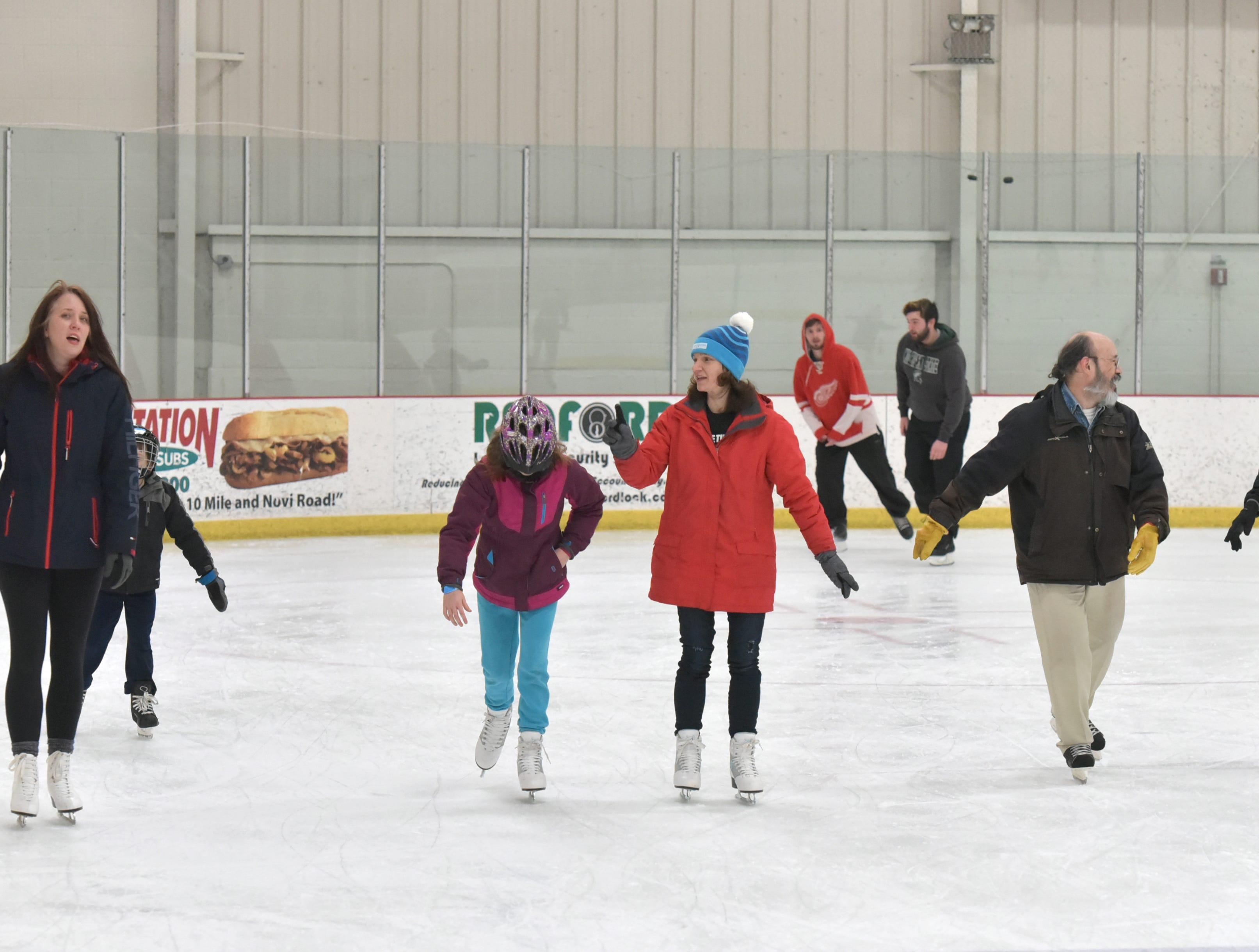 The weekday Noon Skate at the Novi Ice Arena usually attracts a fair amount of skaters - year round.