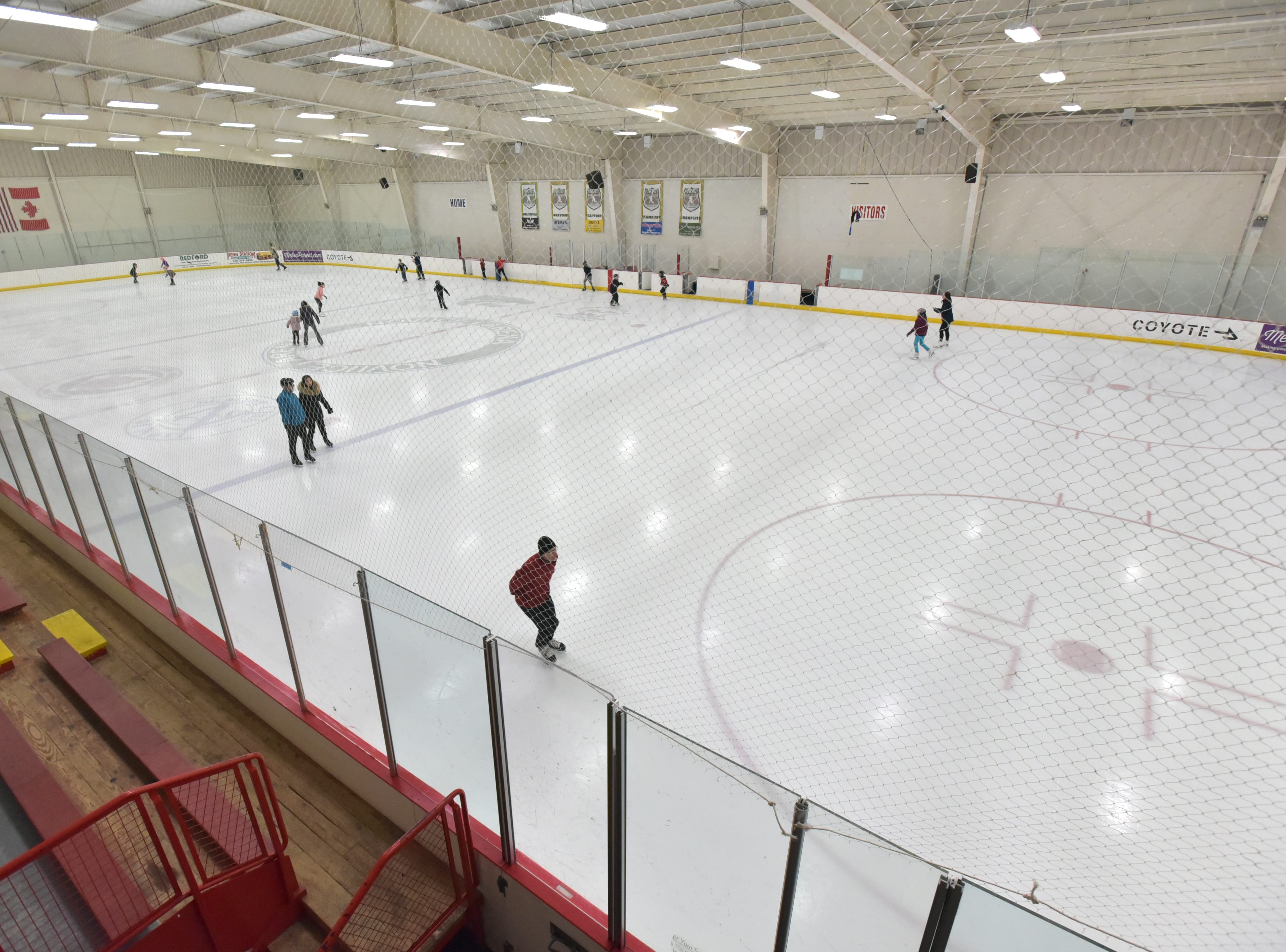Skaters hit the ice at the Novi Ice Arena on Jan. 23 The arena has been open in Novi since 1998.