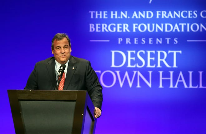 Former Governor of New Jersey, Chris Christie, speaks during the Desert Town Hall in Indian Wells on Tuesday, January 22, 2019.