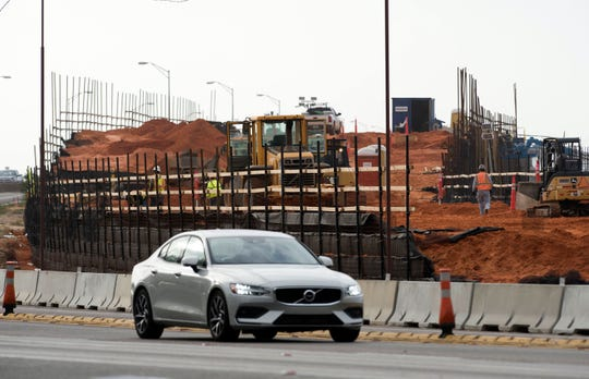 Work on the Pensacola Bay bridge replacement continues on Wednesday, Jan. 23, 2019.