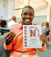 "Darnell ""D.J."" Deas, Jr., was 16 years old when he died by suicide in June 2018. D.J. was a star athlete and student at Navarre High School from January 2017-March 2018. His family set up a foundation to honor his legacy and raise awareness about mental health and suicide awareness, and are holding a 5K at Navarre High School in March to raise money for their scholarship fund."