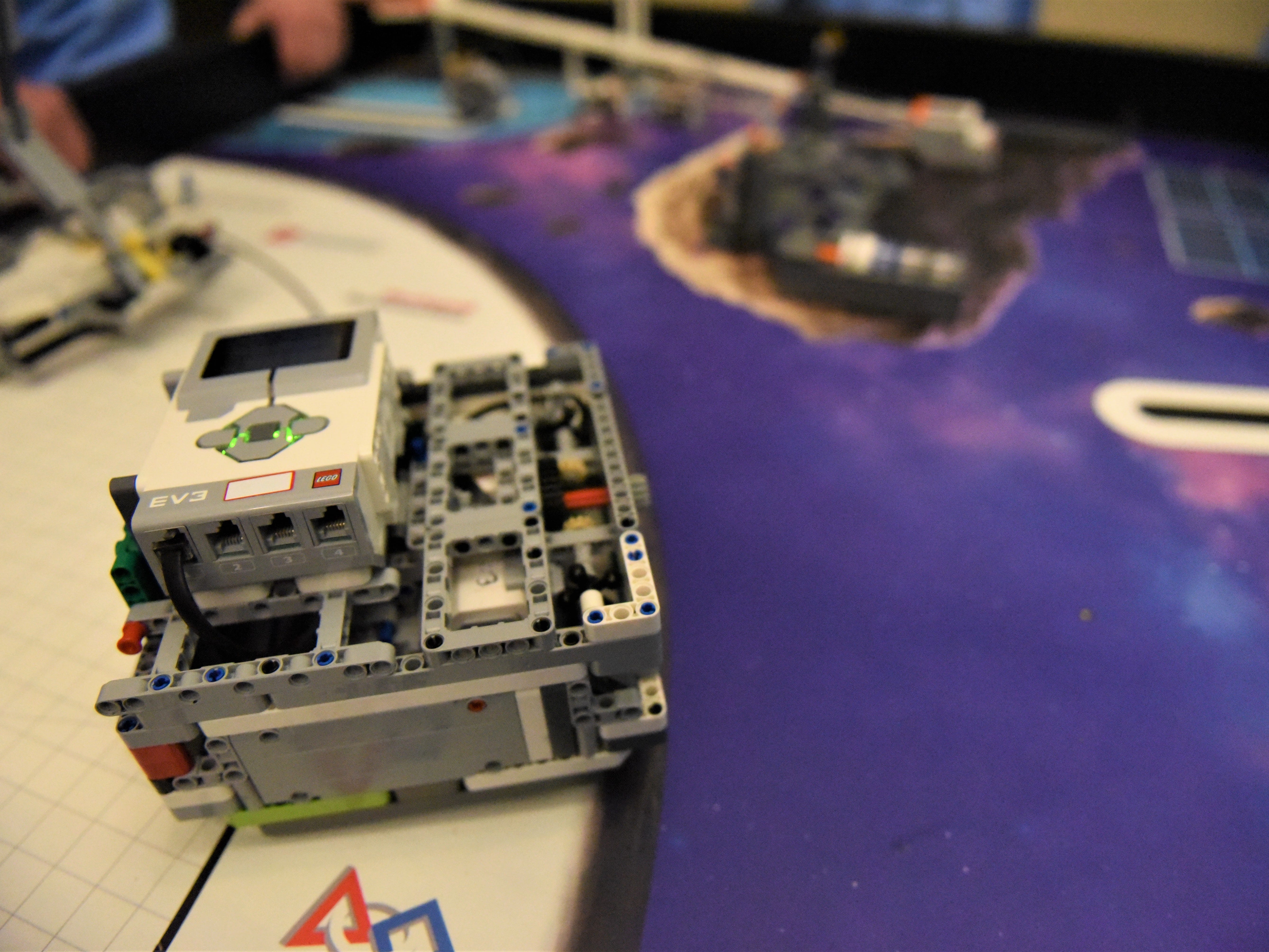 The Guthrie Memorial Library robotics team, Optic Nerds, will compete in the FIRST LEGO League Challenge on Jan. 26 at the Penn State Berks campus. The winner of the competition will go to nationals. The Optic Nerds have three timed attempts to complete as many tasks as they can with this robot.