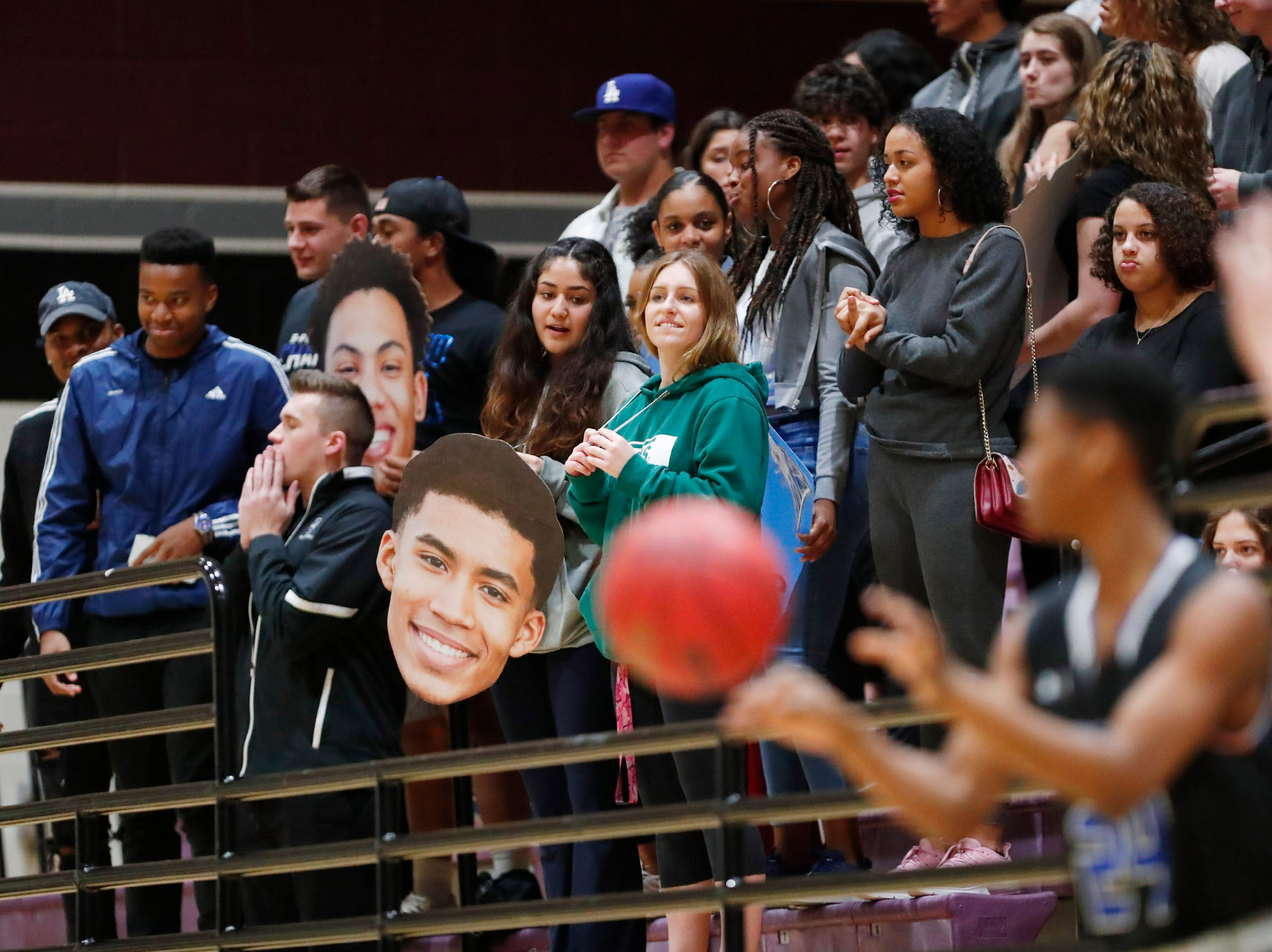 Chandler fans cheer for their team against Hamilton during the first half in Chandler, Ariz. January 22, 2019.